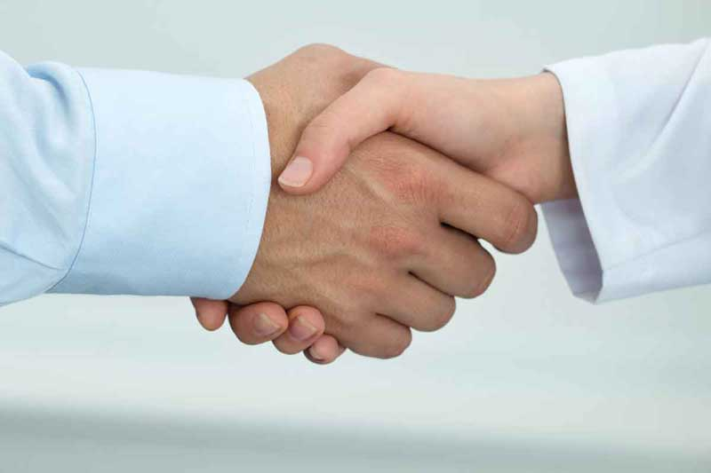 Divorce Mediation Resolution Handshake